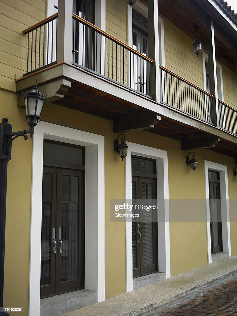 Closed doors of a building, Old Panama, Panama City, Panama : Stock Photo