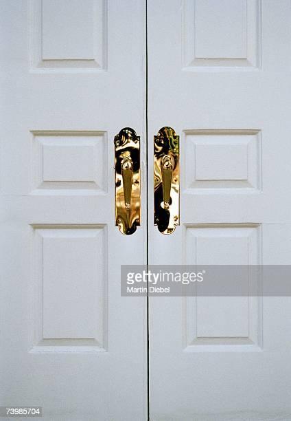 Closed double doors