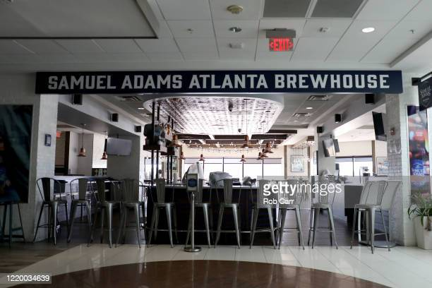 A closed down restaurant at terminal B is shown at HartsfieldJackson Atlanta International Airport on April 20 2020 in Atlanta Georgia The airline...