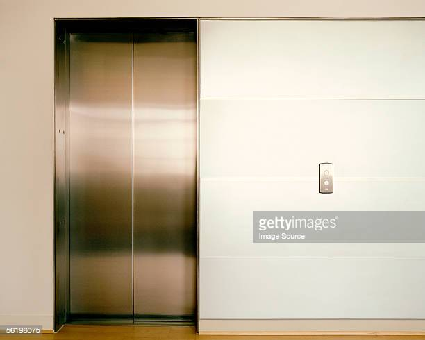 Closed elevator doors