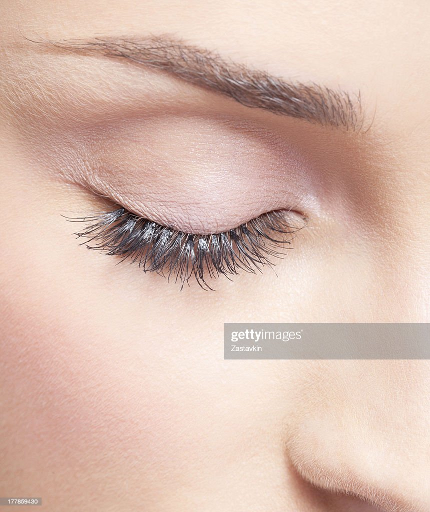 closed eye stock photo getty images