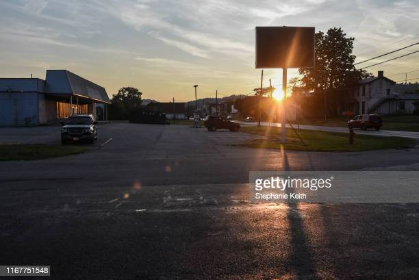 A closed Family Dollar store is seen at sunset on September 11 2019 in Manchester Ohio The community of Manchester has been negatively impacted by...