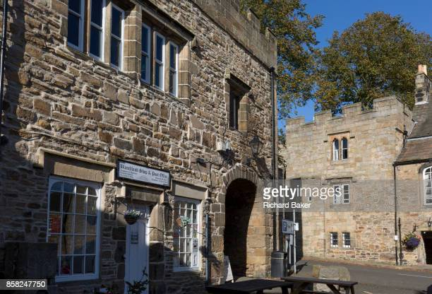 Closed for the Saturday afternoon is the local shop and post office in the Northumbrian village of Blanchland on 29th September 2017 in Blanchland...