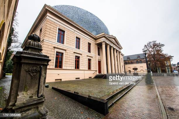 Closed Fundatie museum after the forced Coronavirus lockdown on December 15, 2020 in Zwolle, Netherlands. From December 15 the Netherlands government...