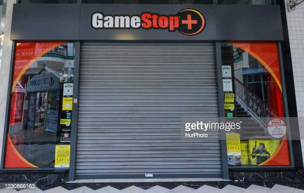 Closed GameStop shop seen in Stephen's Green Shopping Centre in Dublin. In January 2021, a short squeeze caused GameStop stock to surge 1,500 percent...