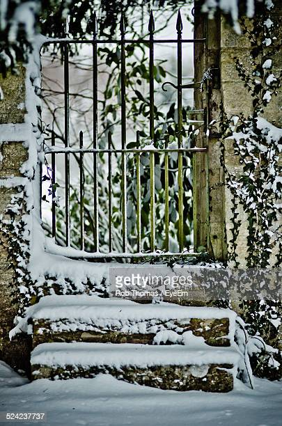 Closed Gate of House During Winter