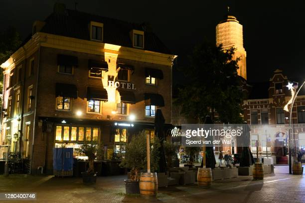 Closed Las Rosas restautant in the city center of Zwolle during the weekly shopping evening after the Dutch government announced new measures...