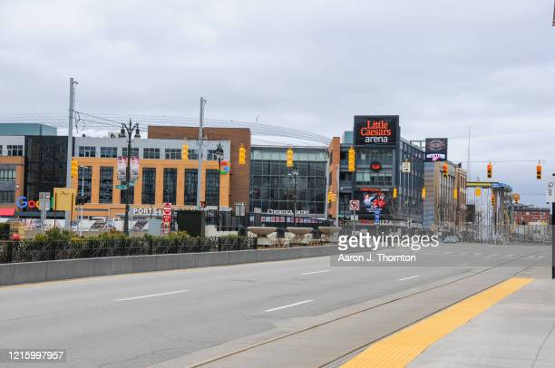 A closed Little Caesars Arena where the Detroit Pistons Detroit Red Wings and many concerts and other events were scheduled on March 30 2020 in...