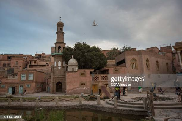 TOWN KASHGAR XINJIANG CHINA A closed local mosque seen standing in the Kashgar old town northwestern Xinjiang Uyghur Autonomous Region in China...