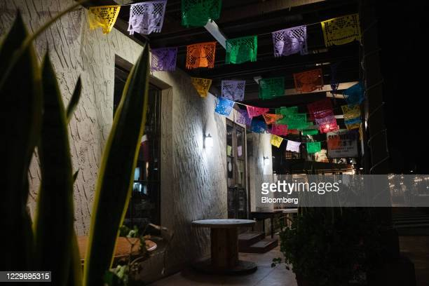 Closed Mexican restaurant at night in the Old Town neighborhood of San Diego, California, U.S., on Thursday, Nov. 19, 2020. California Governor Gavin...
