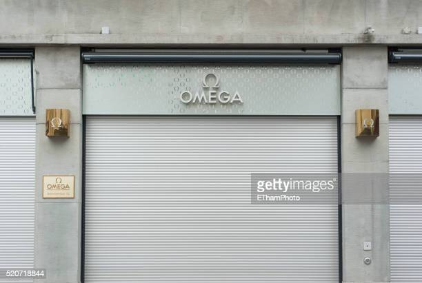 Closed Omega luxury watch store