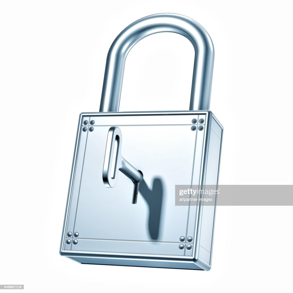 Closed Padlock made of steel : Stock-Foto