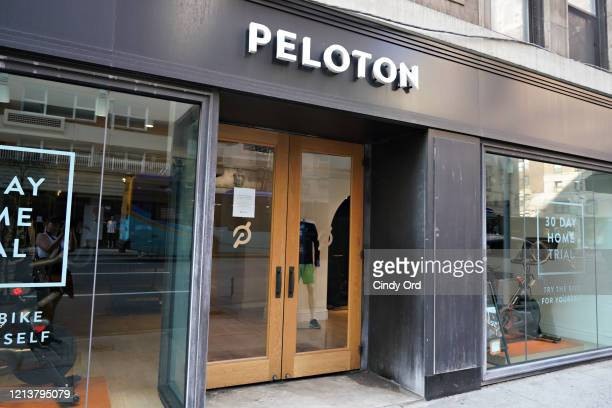 Closed PELOTON store as the coronavirus continues to spread across the United States on March 20, 2020 in New York City. The World Health...