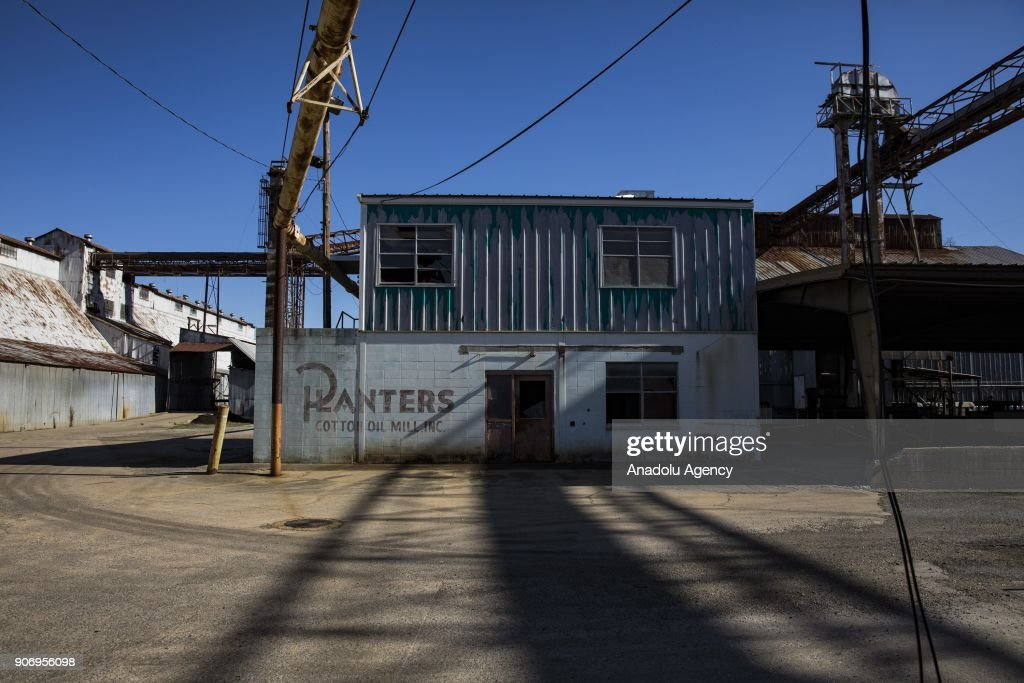 A Closed Planters Cotton Oil Mill Storage Facility Sits Rusting And  Abandoned In Pine Bluff,
