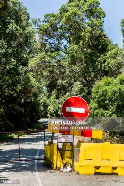 closed road - road block  -  no entry sign - ems forster productions stock pictures, royalty-free photos & images