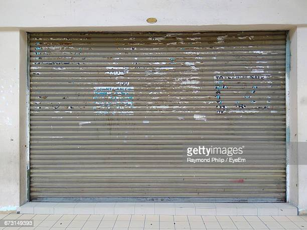Closed Shutter Of Shop