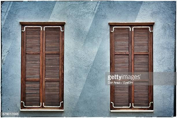 Closed Shutter Windows Of House