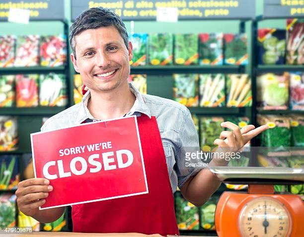 Closed Sign - Garden Center Store