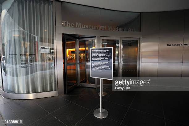 A closed sign outside of Museum of Modern Art on March 13 2020 in New York City Due to the ongoing threat of the coronavirus outbreak in the United...