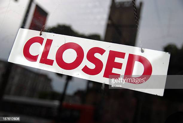 closed sign - business closing stock photos and pictures