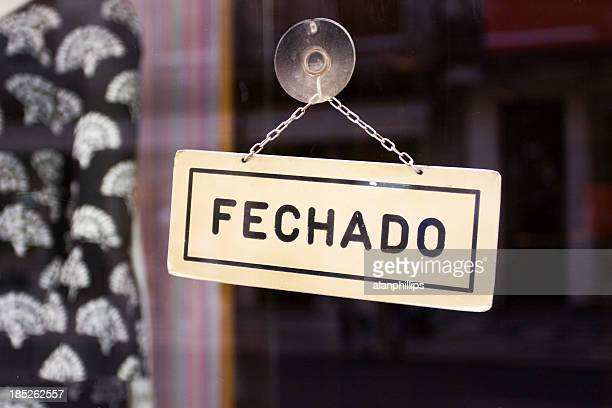 fechado sign - portuguese culture stock pictures, royalty-free photos & images