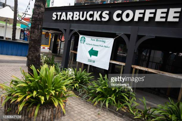 Closed Starbucks Corp. Coffee shop in Patong, Phuket, Thailand, on Saturday, Dec. 19, 2020. The tepid response to Thailands highly publicized...