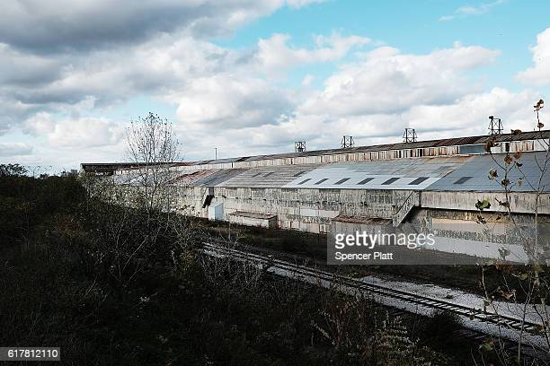 A closed steel plant is shown on October 24 2016 in Youngstown Ohio Ohio has become one of the key battleground states in the 2016 presidential...