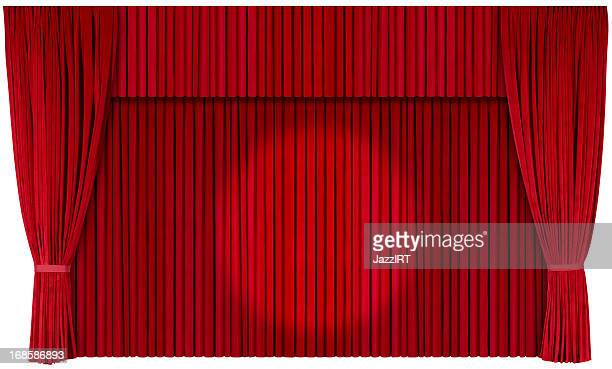 Closed Theater Curtains (isolated with clipping path over white background)