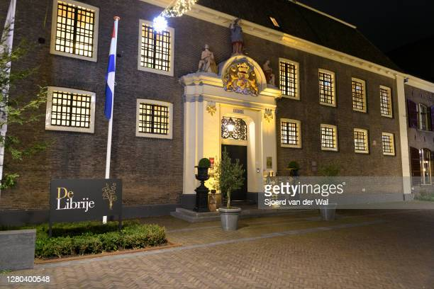 Closed three Michelin star restaurant Librije in the city center of Zwolle during the weekly shopping evening after the Dutch government announced...