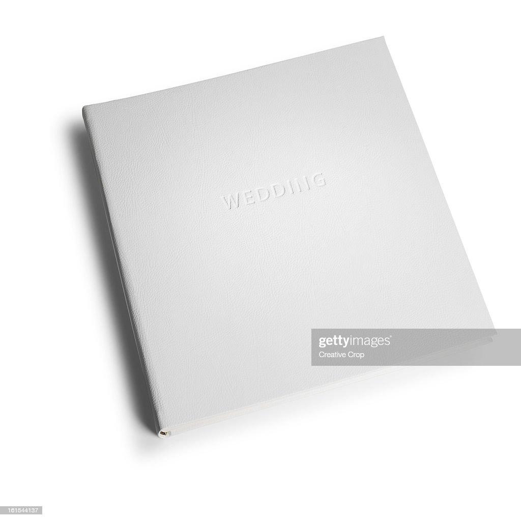 Closed wedding album : Stock Photo