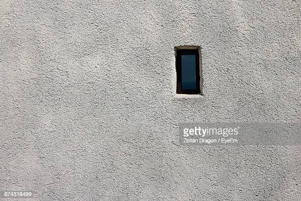 Closed Window On Concrete Wall
