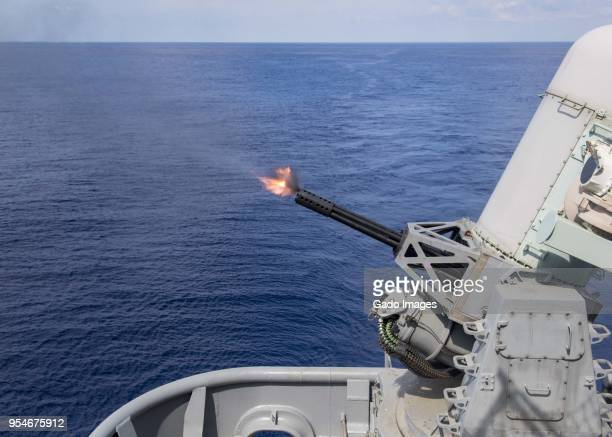 close-in weapons system (ciws) - bang boat stock pictures, royalty-free photos & images