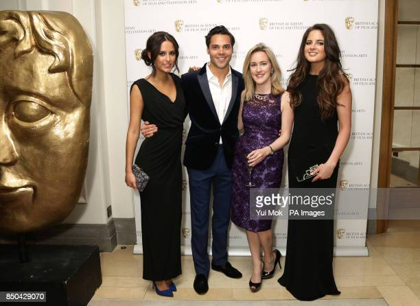 Closer magazine Entertainment Editor Katie Banks with Lucy Watson Andy Jordan and Binky Felstead of Made In Chelsea at the British Academy Television...