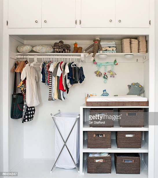 Closet and changing table for baby