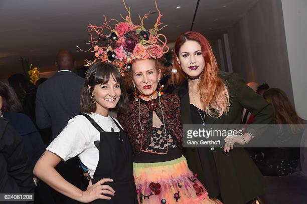 Closet curators Alyssa Coscarelli stylist Patricia Fox of Purely Patricia and event cochair Luanna PerezGarreaud attend Housing Works' Fashion for...