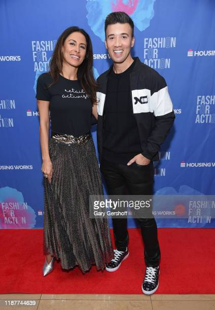 Closet curators Patrice Farameh and Dennis Kenney attend Housing Works' Fashion for Action on November 14 2019 in New York City