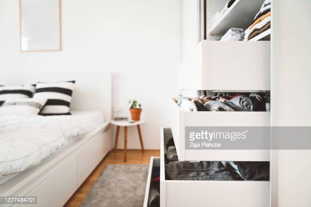 closet in one bedroom apartment - tidy room stock pictures, royalty-free photos & images