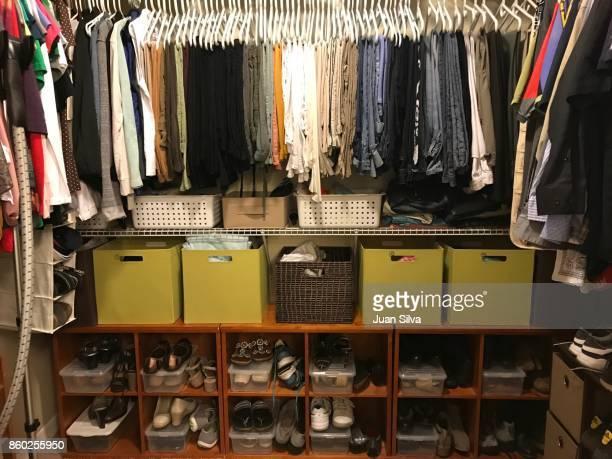 closet - walk in closet stock photos and pictures