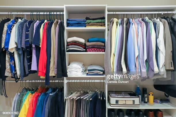 closet shelves - neat stock pictures, royalty-free photos & images