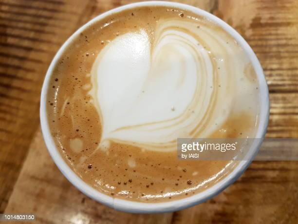 Close-uo of coffee with a heart