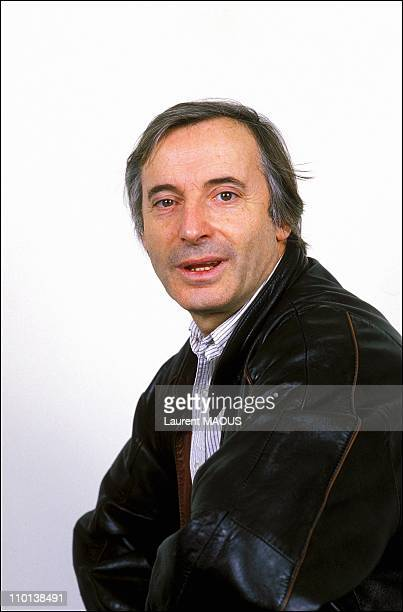 Closeup Alex Metayer in Paris France on December 31 1985