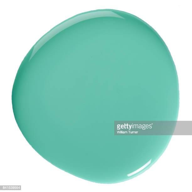 A close-up beauty image of tirquoise nail polish