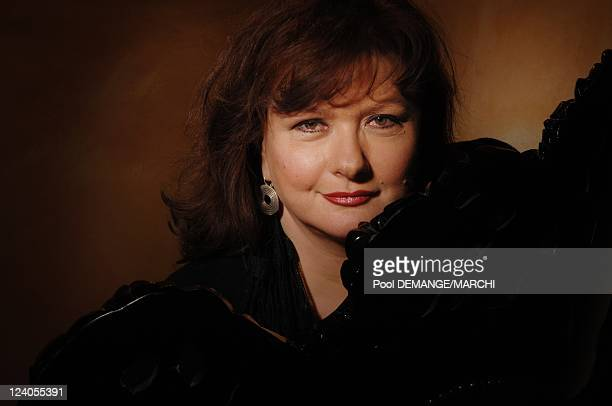 Closeup Catherine Jacob french actress In Gerardmer France On January 26 2008