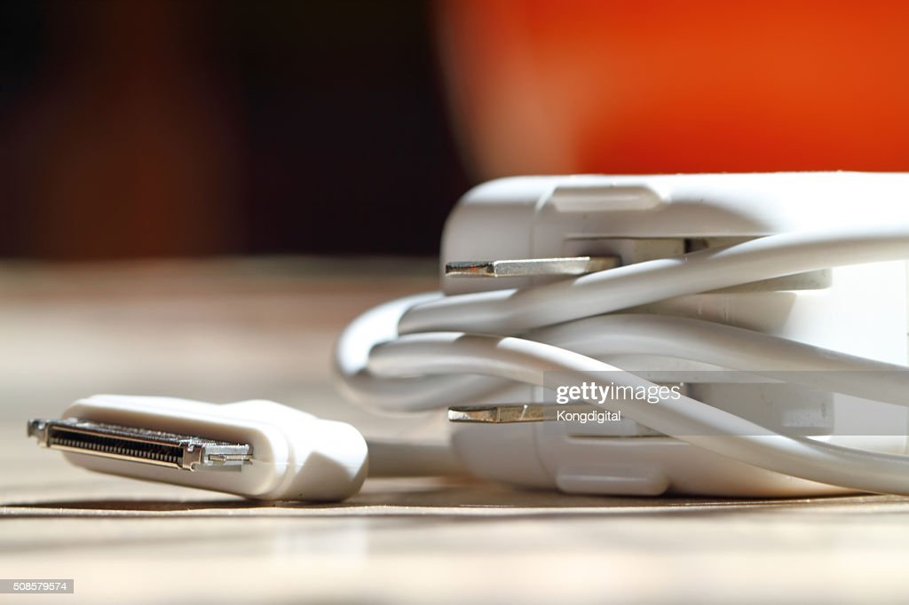 Closeup charger : Stock Photo