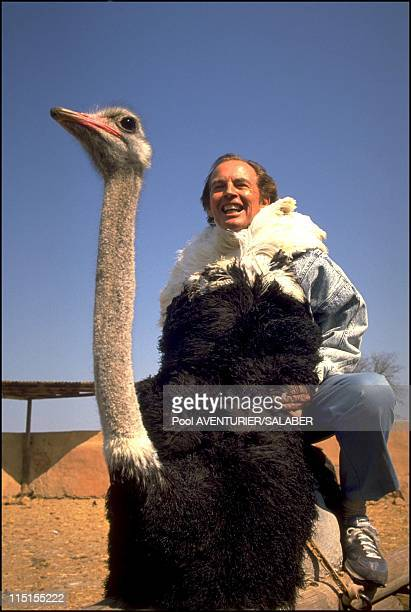 Closeup Christian Barnard and his wife in Central African Republic on September 16 1988 Ostrich farm
