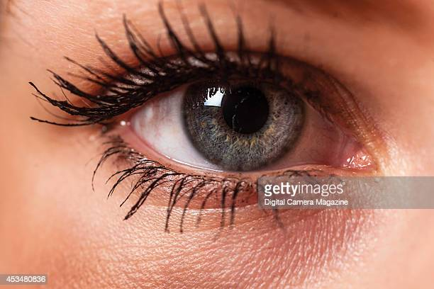 Close-up detail of a woman's eye, taken on October 14, 2013.