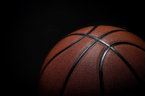 Closeup detail of basketball ball texture background 1172020569