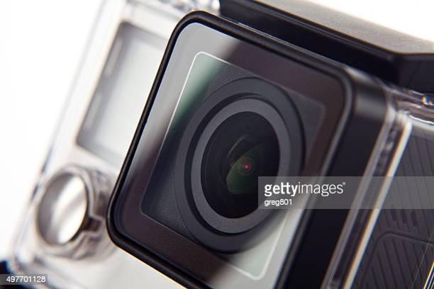 Extremo câmara grande plano em fundo branco