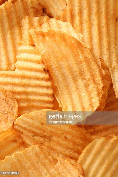 Close-up full frame of potato chips