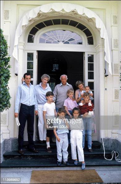 Close-up Giovanni Agnelli and family In Turin, Italy On ...